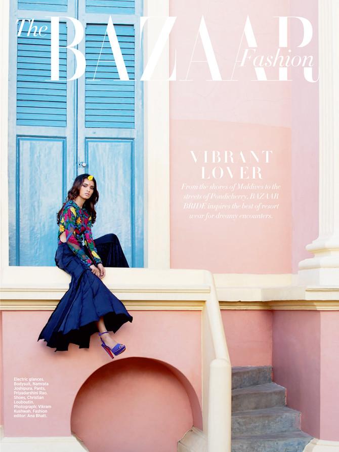 Another Shoot with Harper's Bazaar Bride