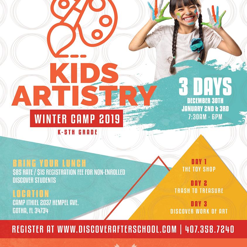 KIDS ARTISTRY WINTER CAMP 2019