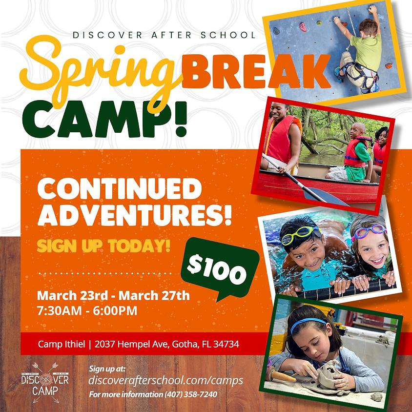 SPRING BREAK CAMP EXTENDED!
