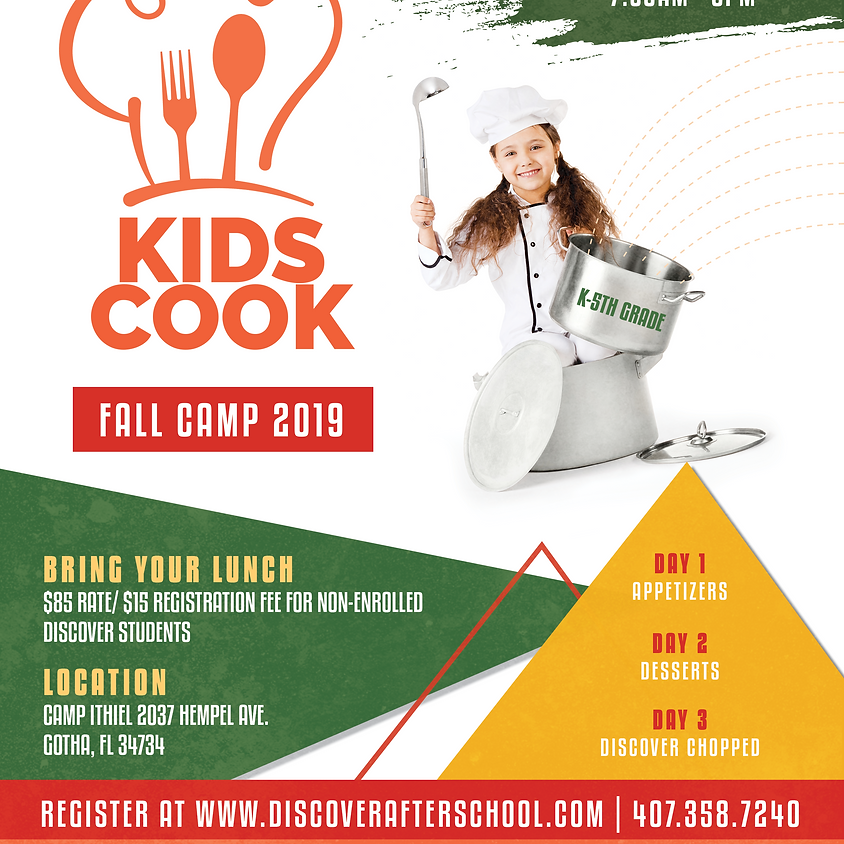 KIDS COOK FALL CAMP 2019