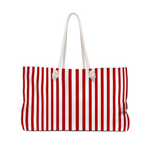 Her Red Weekender Bag