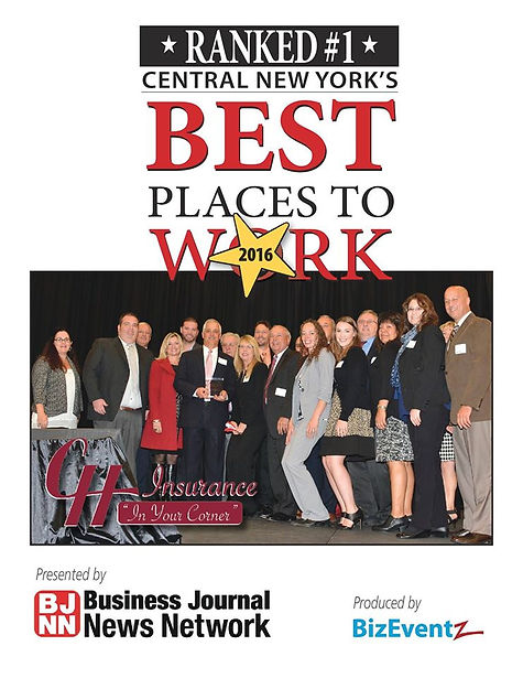 CH Insurace voted best place to wrk in centra new york