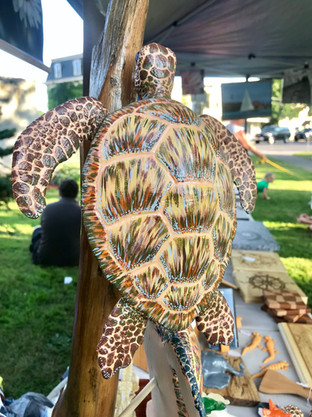 Carved Turtle woodworking