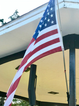 'Ole Glory on the Gazebo