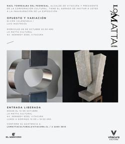 Invitacion Exposición 'Opuesto y Variaci