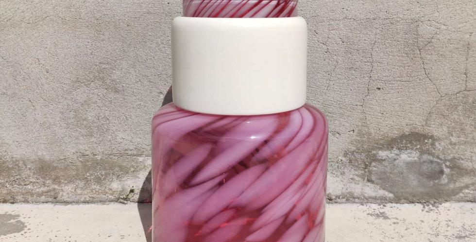 Pink flamingo vase Totem #4 - 1 white ring