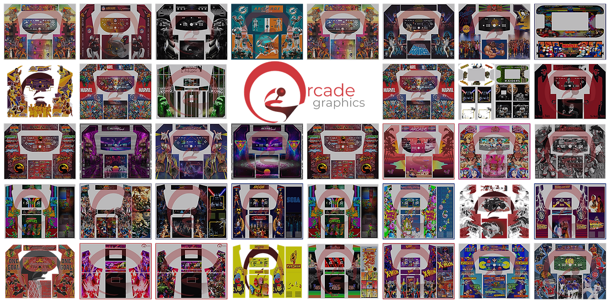 Arcade Graphics artwork designs