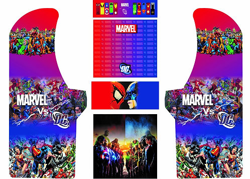 Marvel v/s DC Upright Cabinet