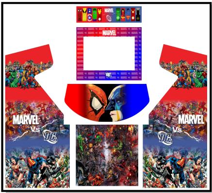 Marvel vs DC Upright Cabinet