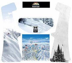 skiing custom design arcade graphics