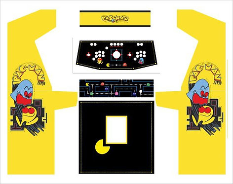 Pac Man Upright Cabinet