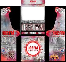 102 fm Israel custom design arcade graphics