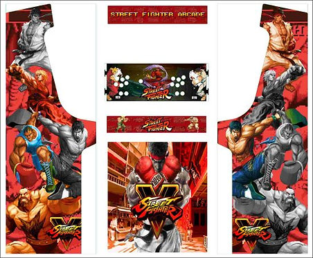 Street Fighter Upright Cabinet