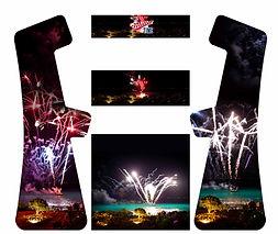 Fireworks custom design arcade graphics