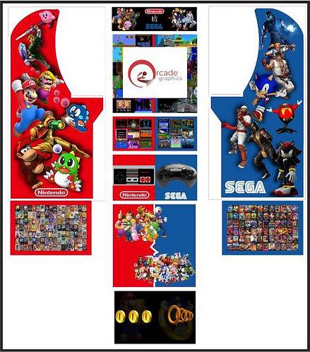 Sega vs Nintendo Arcade1up Full Cabinet