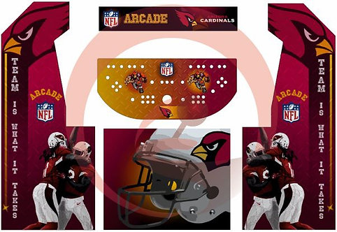 Arizona Cardinals Upright Cabinet