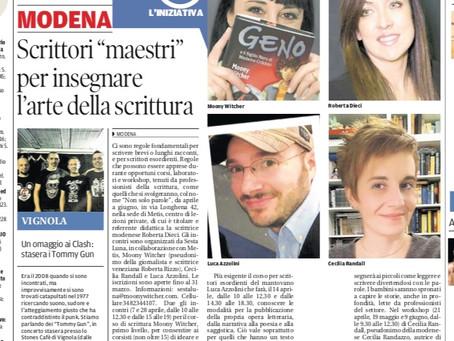Corsi di scrittura: la presentazione il 24 febbraio a Modena