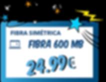 Oferta de Fibra óptica Simétrica de 600 Mb sin permanencia y sin cuotas extra.