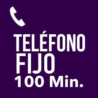 TELÉFONO FIJO 100 minutos