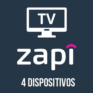 Zapi TV - 4 Dispositivos
