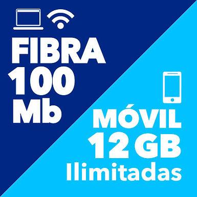 FIBRA 100 + MÓVIL 12 GB
