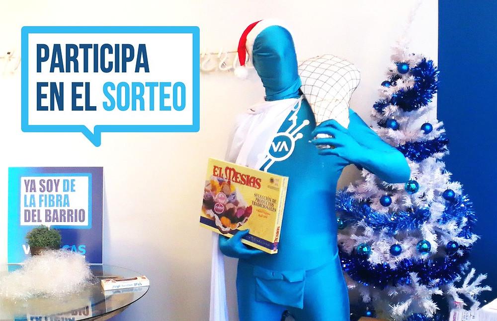 Vallecas Telecom va a sortear una cesta de Navidad para sus clientes.