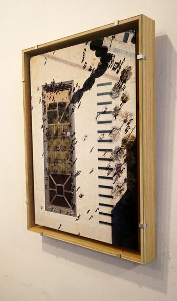 רוסטיקו עץ אלון עם זכוכית אנטי - מסגור מיוחד