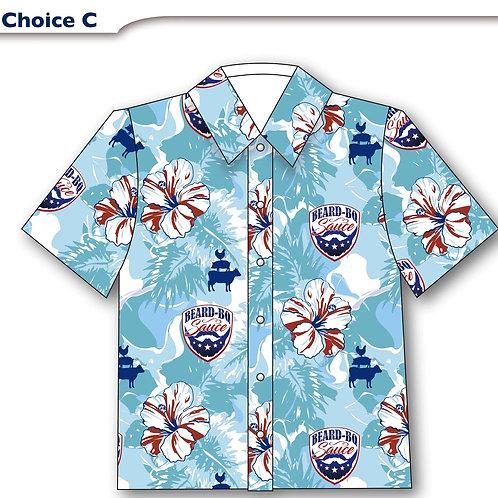 Woman's 1st Annual Beard BQ Hawaiian Shirt