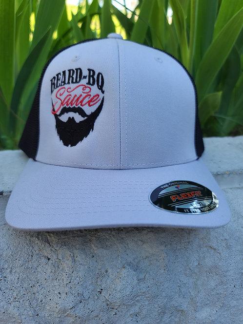 Beard BQ Gray / Black Fitted Trucker  Hat