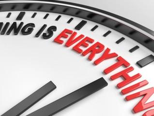 SMOKE BREAK: Timing isn't everything, but it helps