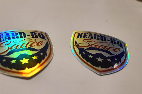 Holographic Beard BQ Stickers