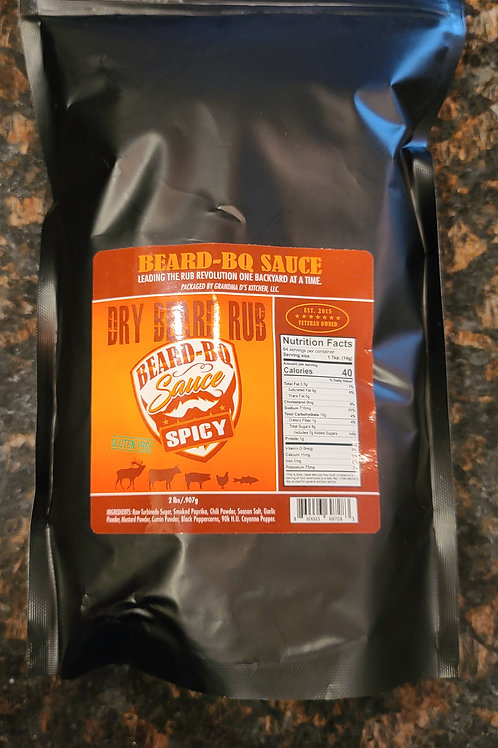 2lbs SPICY Dry Beard Rub