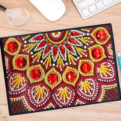Mandala Red style Note book / Sketch pad