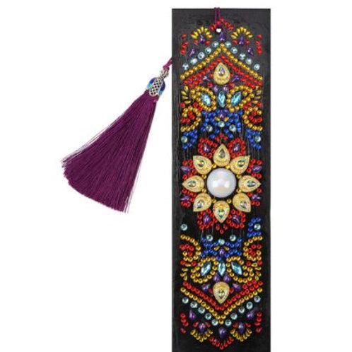 Mosaic flower bookmark