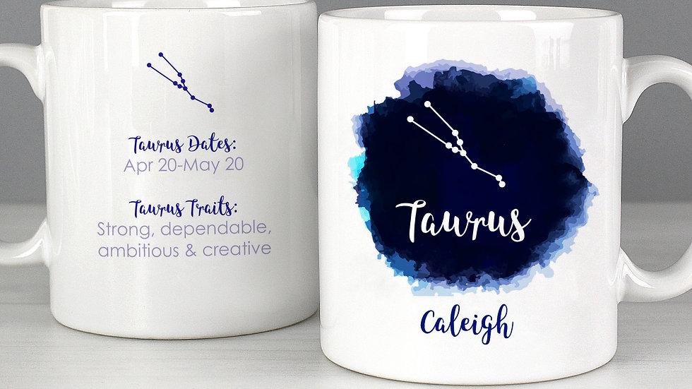 Personalised Taurus Zodiac Star Sign Mug (April 20th - May 20th)