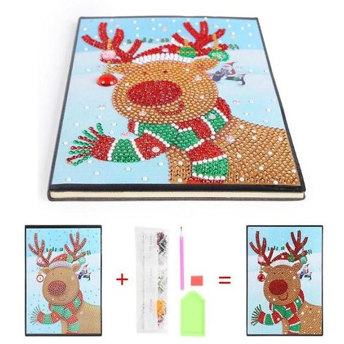Reindeer with scarf Notebook