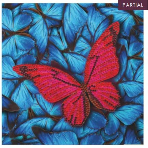 """Butterfly"" Crystal Art Card Kit"