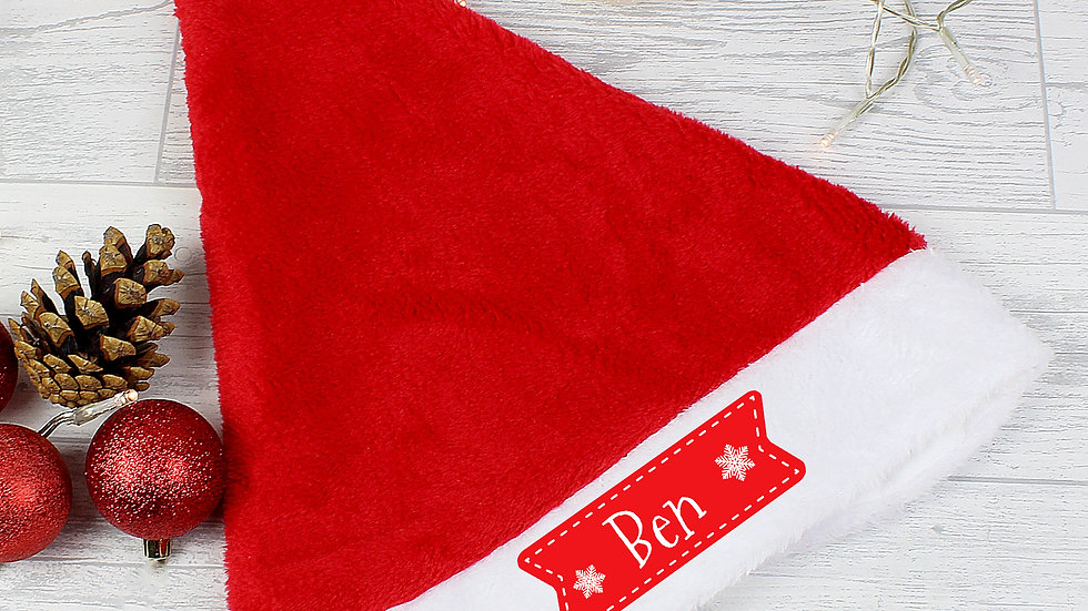Personalised Snowflake Santa Hat