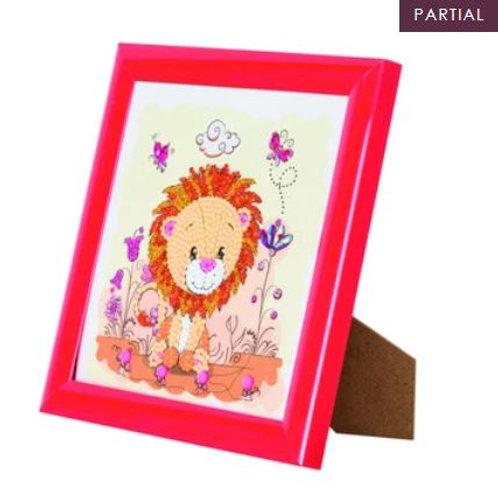 Lion, 16x16cm Frameable Crystal Ar