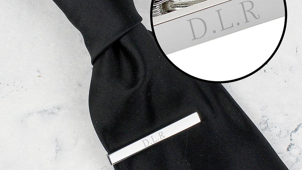 Personalised Initials Tie Clip