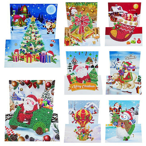 Christmas cards pack of 8 design 10