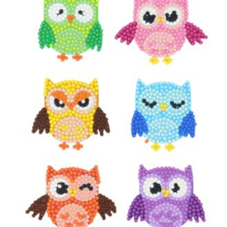 Colourful Owls stickers pack of 6