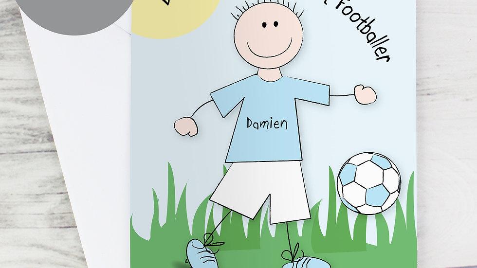 Personalised Worlds Best Footballer Card
