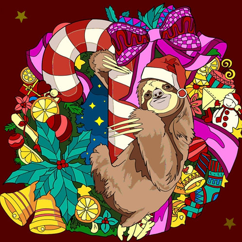 Sloth on candy
