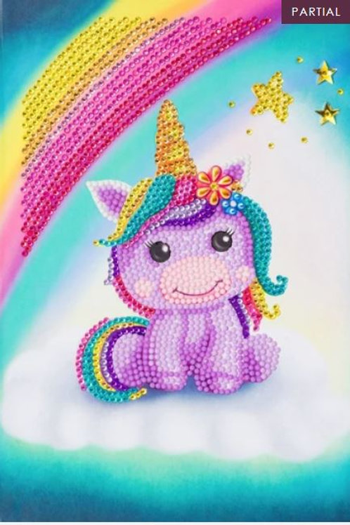 Unicorn Smile, Crystal Art Notebook