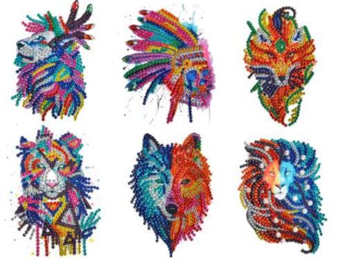 Wolf set stickers set of 6