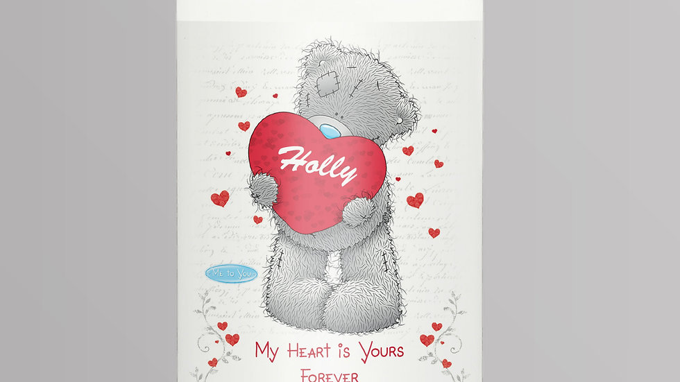 Personalised Me to You Big Heart Candle