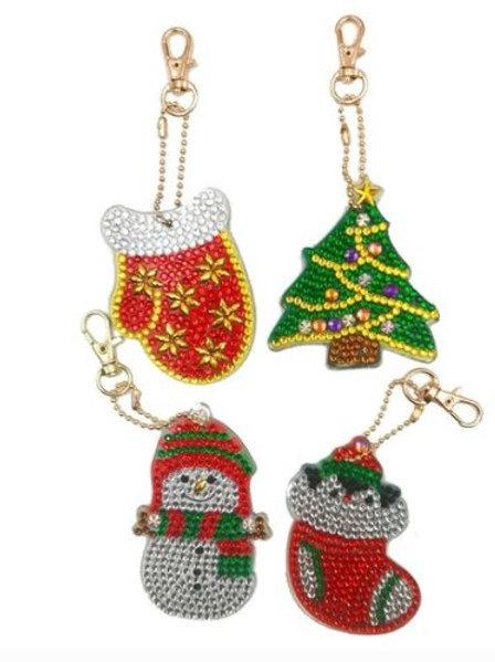 Christmas set pack of 4 Xmas tree
