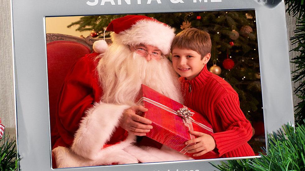 Personalised Santa & Me 7x5 Landscape Photo Frame