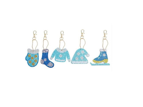 Christmas set pack of 5 blue set